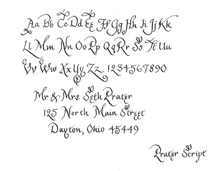 Calligraphy styles Handwriting calligraphy